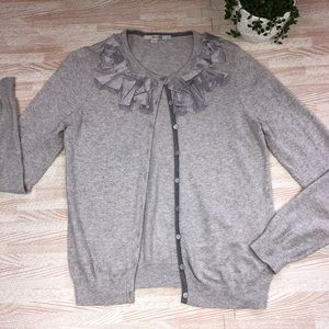 Boden Cashmere Blend Cardigan with Ribbon Trim